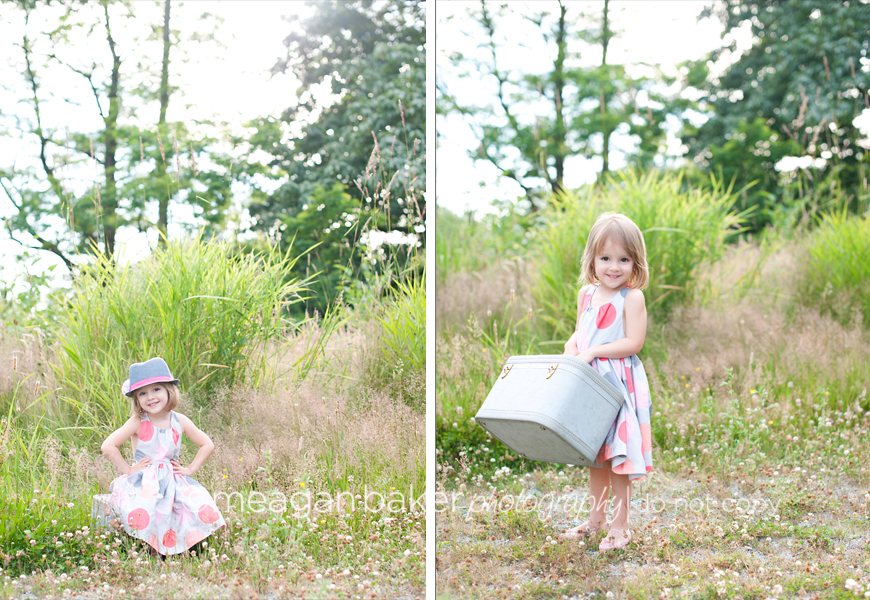 fun child photography, cute little girl photos, joe fresh kids dress, meagan baker photography
