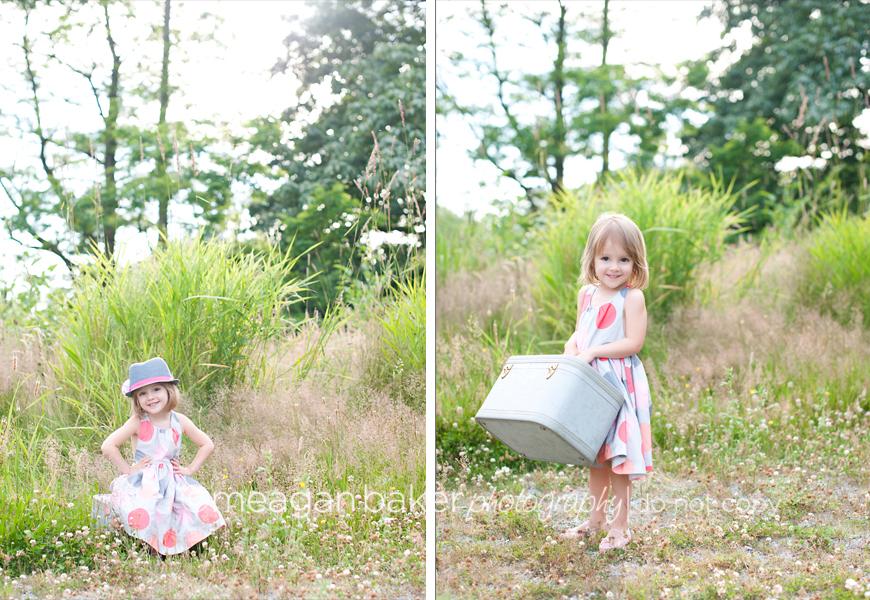 fun child photography, cute little girl photos, joe fresh kids dress, meagan baker photography