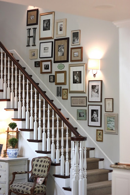 Sunday showcase staircase gallery wall vancouver child family photographer meagan baker - Entree deco trap ...